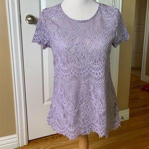 Lavender lace top 💐